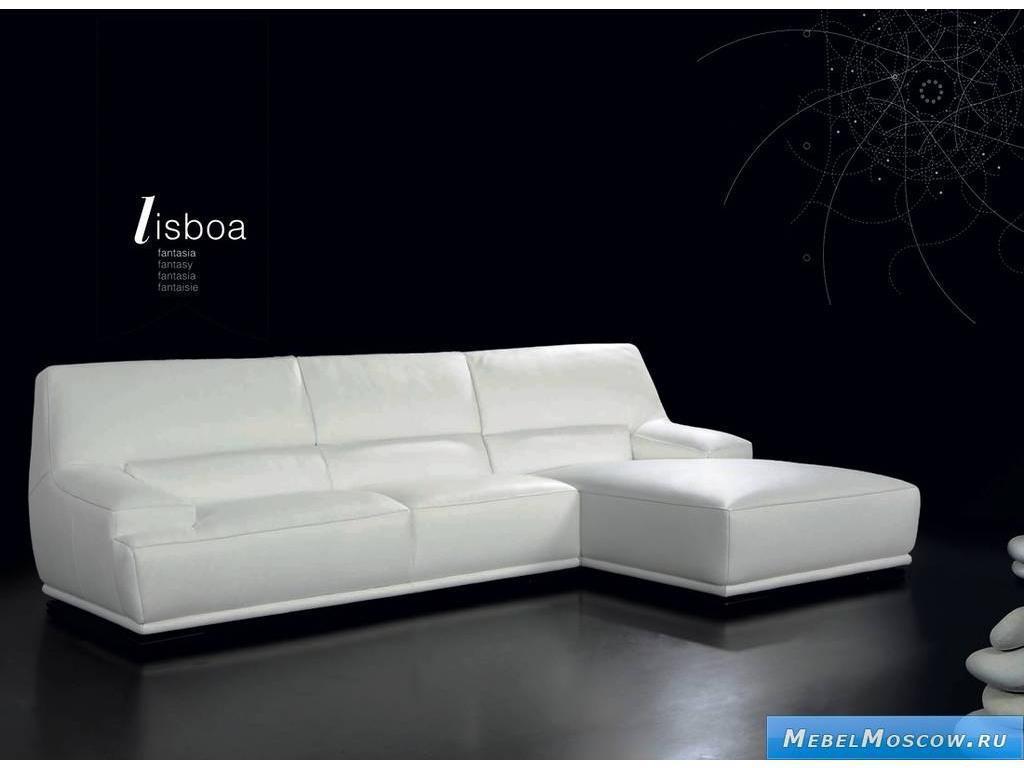Белый угловой диван фото